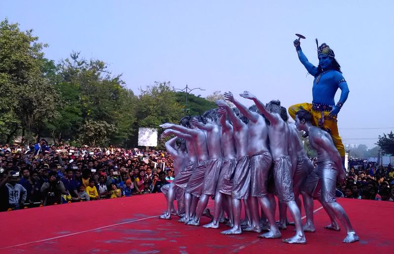 "Prince Dance Group stage ""Konark"" - a contemporary performance on the second day of Odisha Parba 2017, a 3 days mega celebration of Odisha's Culture, Tradition, Heritage and ..."