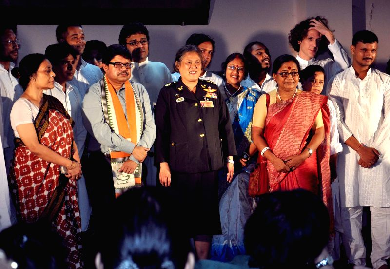 Princess of Thailand Maha Chakri Sirindhorn with Vice Chancellor of Rabindra Bharati University Sabyasachi Basu Roychowdhury and others during her visit to  Jorasanko Thakur Bari in Kolkata on July ..