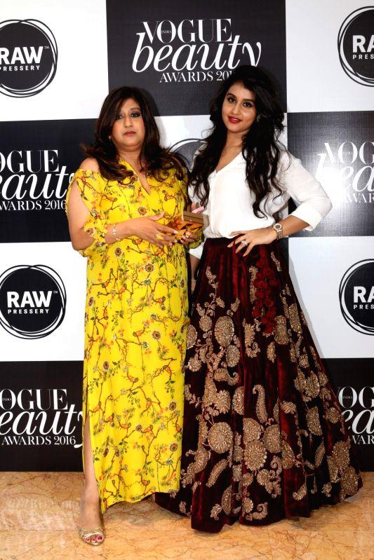 Priya Tanna, Editor, Vogue India along with Nidhi Sharma Punjabi, Beauty Editor, Vogue India at the Vogue Beauty Awards 2016 at Taj Lands End, in Mumbai on July 27, 2016. - Nidhi Sharma Punjabi