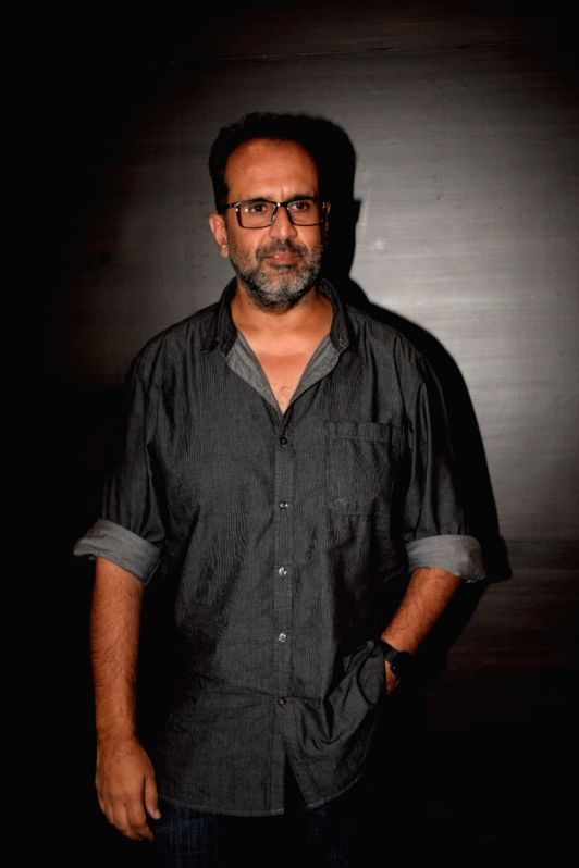 """Producer Aanand L Rai during a media interaction to promote his upcoming film """"Happy Phirr Bhag Jayegi"""" in Mumbai on July 31, 2018. - Aanand L Rai"""