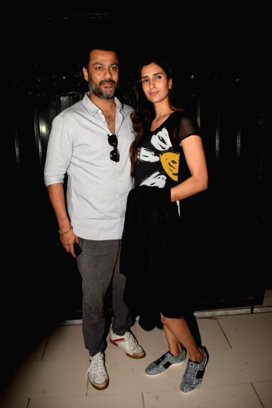 """Producer Abhishek Kapoor along with his wife Pragya Yadav at the producer Ekta Kapoor's party post web series """"The Test case"""" screening in Mumbai on Jan 29, 2018. - Abhishek Kapoor, Pragya Yadav and Ekta Kapoor"""