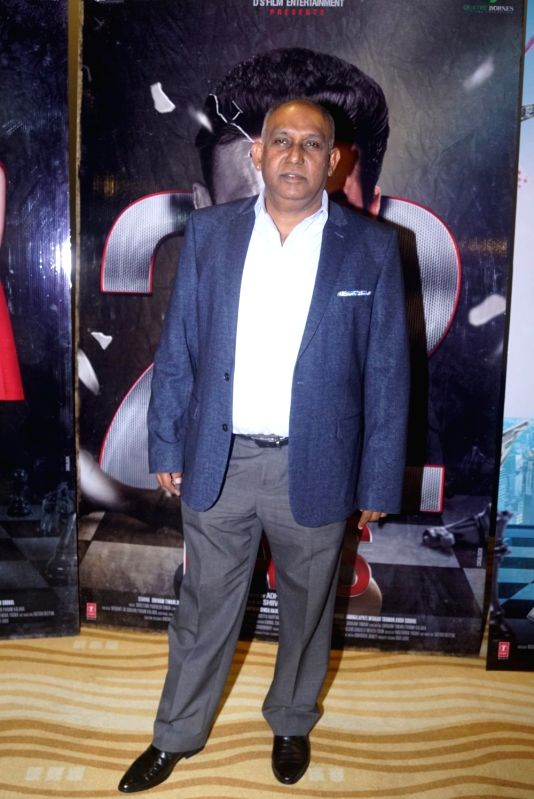 "Producer Adhir Gunness at the trailer launch of upcoming film ""22 Days"" in Mumbai, on July 24, 2018."