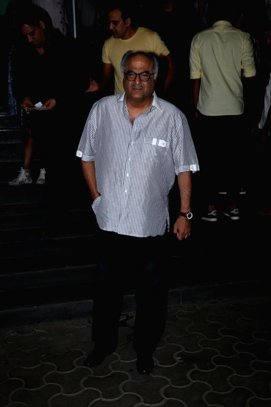 "Producer Boney Kapoor at the special screening of film ""Mulk"" in Mumbai on Aug 2, 2018. - Boney Kapoor"