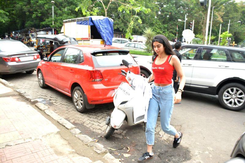 Producer Boney Kapoor's daughter Khushi Kapoor seen at Mumbai's Bandra on July 12, 2018. - Boney Kapoor and Khushi Kapoor