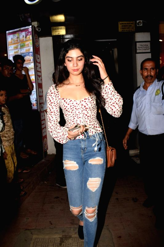 Producer Boney Kapoor's daughter Khushi Kapoor seen at a cafe in Bandra, Mumbai on Aug 5, 2018. - Boney Kapoor and Khushi Kapoor
