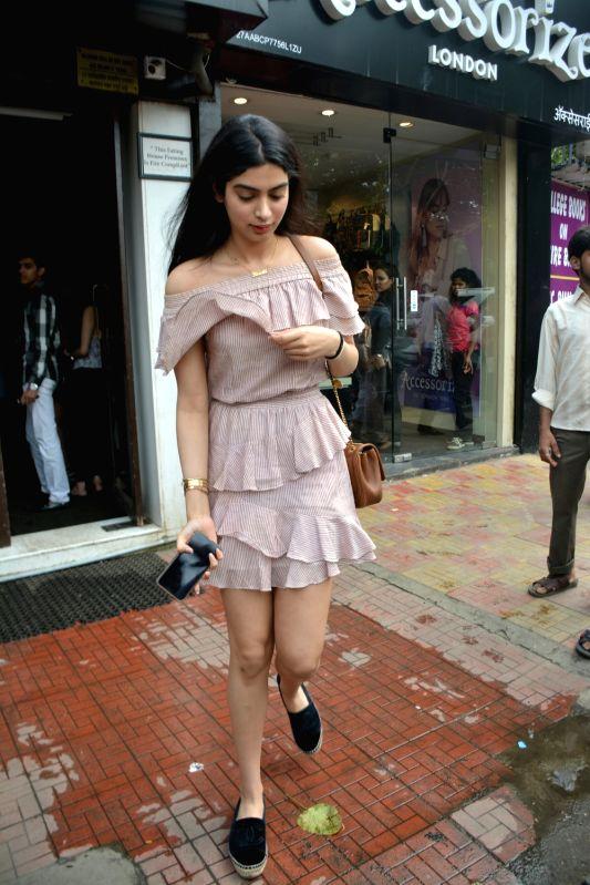 Producer Boney Kapoor's Khushi Kapoor seen at Mumbai's Bandra on July 29, 2018. - Boney Kapoor and Khushi Kapoor