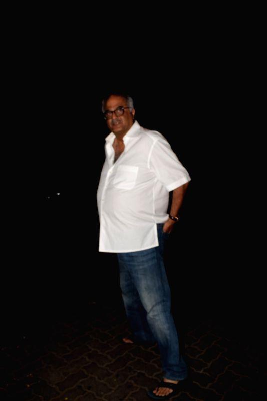 Producer Boney Kapoor seen at producer Ekta Kapoor's residence in Mumbai on April 13, 2018 . - Boney Kapoor and Ekta Kapoor