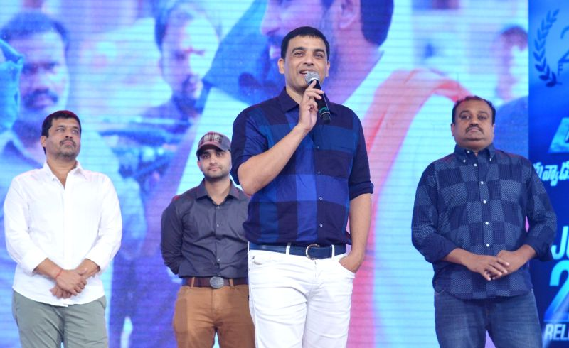 Producer Dil Raju during the movie auido launch of film Duvvada Jagannadham on Hyderabad, June 7, 2017.