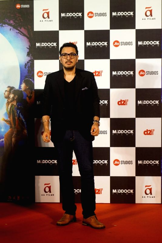 "Producer Dinesh Vijan  at the trailer launch of his upcoming film ""Stree"" in Mumbai on July 26, 2018."