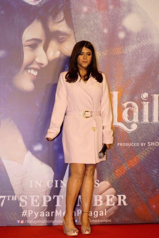 "Producer Ekta Kapoor at the trailer launch of her upcoming film ""Laila Majnu"" in Mumbai on Aug 7, 2018. - Ekta Kapoor"