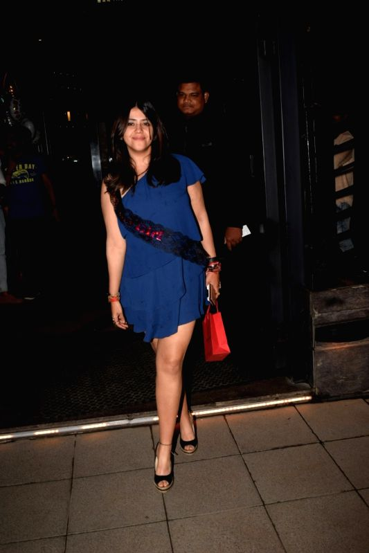 Producer Ekta Kapoor during her birthday celebration in Mumbai on June 7, 2018. - Ekta Kapoor