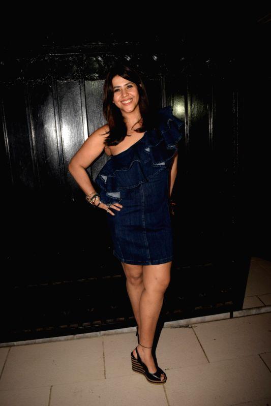 "Producer Ekta Kapoor host  party post web series ""The Test case"" screening in Mumbai on Jan 29, 2018. - Ekta Kapoor"