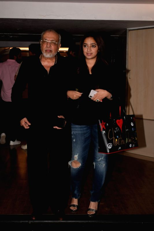 """Producer J.P. Dutta at the wrap up party of film """"Paltan"""" hosted by actor Sonu Sood in Mumbai on Jan 29, 2018. - Sonu Sood"""