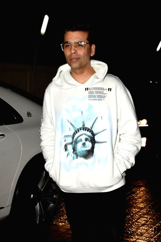 "Producer Karan Johar at the special screening of upcoming film ""Dhadak"", in Mumbai on July 14, 2018. - Karan Johar"