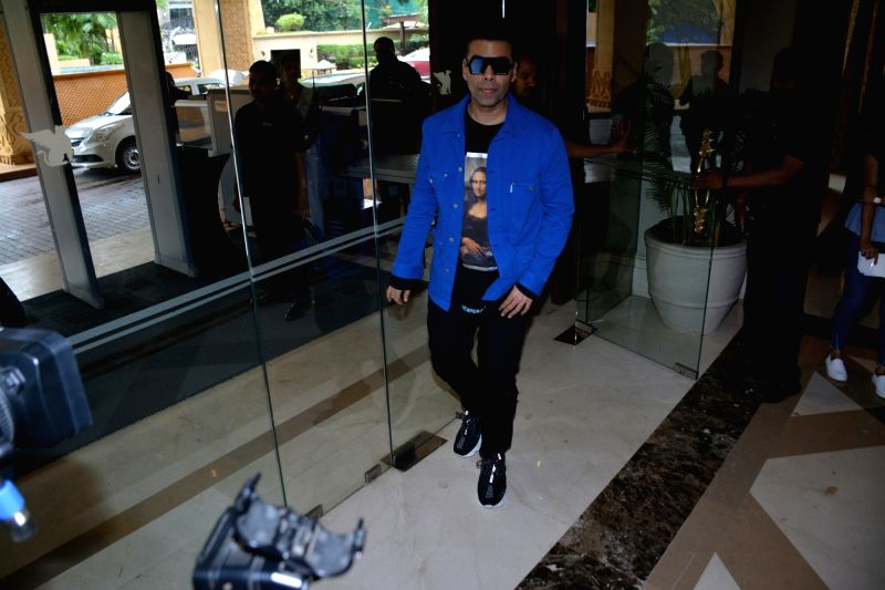 "Producer Karan Johar during the success meet of his film ""Dhadak"" in Mumbai on July 26, 2018. - Karan Johar"