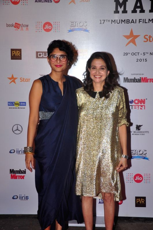 Producer Kiran Rao and Anupama Chopra during Jio MAMI 17th Mumbai Film Festival Opening Ceremony in Mumbai on Oct 30, 2015. - Kiran Rao and Anupama Chopra