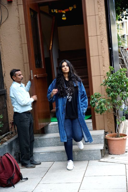 Producer Rhea Kapoor at a launch of her sister-actress Sonam Kapoor and Anand Ahuja shoe store in Mumbai on July 27, 2018. - Sonam Kapoor and Rhea Kapoor