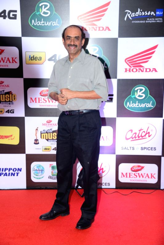 Producer Suresh Babu Daggupati at Mirchi Music Awards South 2016, on July 27, 2016.