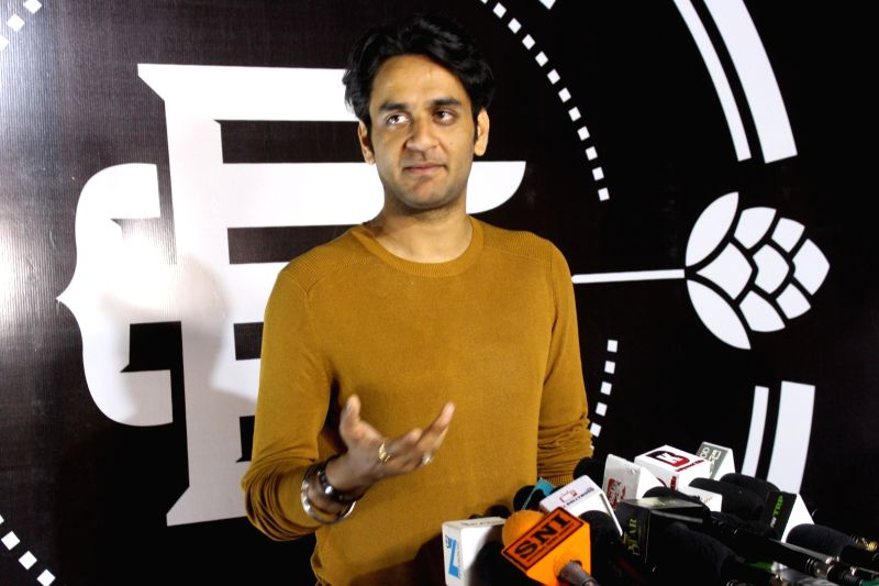 Producer Vikas Gupta during a programme in Mumbai on Feb 1, 2018. - Vikas Gupta