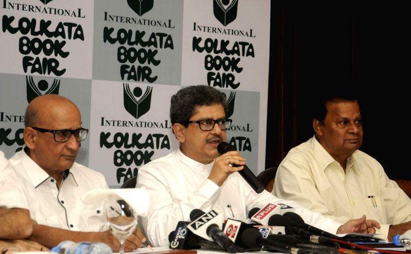 Publishers and Booksellers Guild President Ashok Narayan Burman, director Sudhangshu Dey, General Secretary Tridib Chatterjee during the announcement of the `40th International Kolkata Book ... - Secretary Tridib Chatterjee