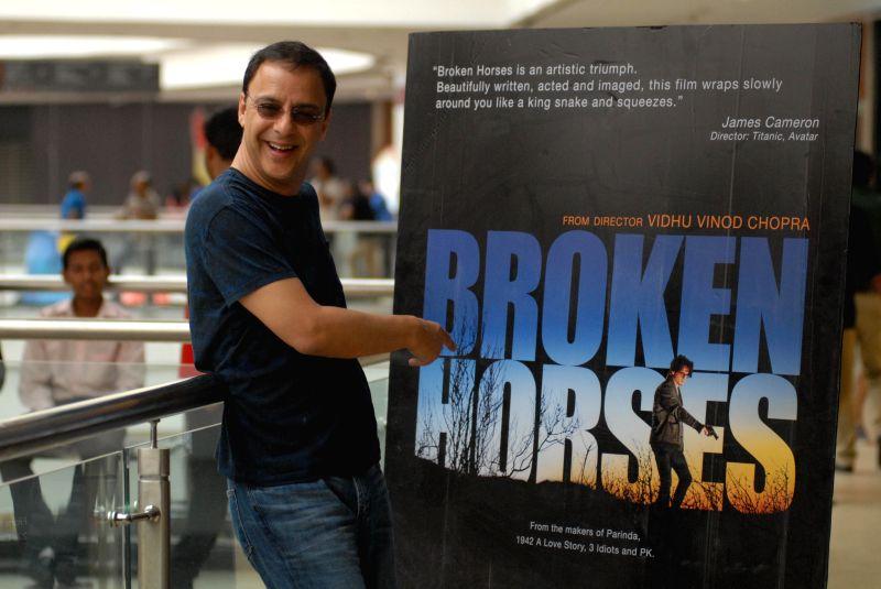 Film director Vidhu Vinod Chopra during the launch of his upcoming hollywood film ``Broken Horses`` in Pune, on April 4, 2015. - Vidhu Vinod Chopra