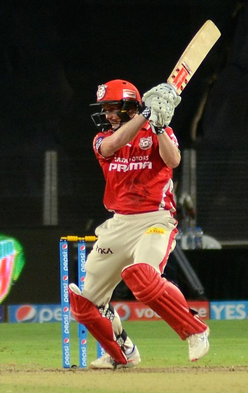 Kings XI Punjab captain George Bailey in action during an IPL-2015 match between Kolkata Knight Riders and Kings XI Punjab at Maharashtra Cricket Association Stadium, in Pune, on April 18, ... - George Bailey