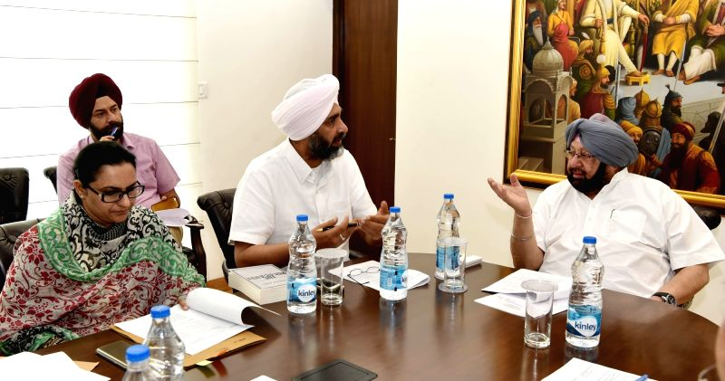Punjab Chief Minister Captain Amarinder Singh during a meeting in Chandigarh, on May 5, 2017. - Captain Amarinder Singh