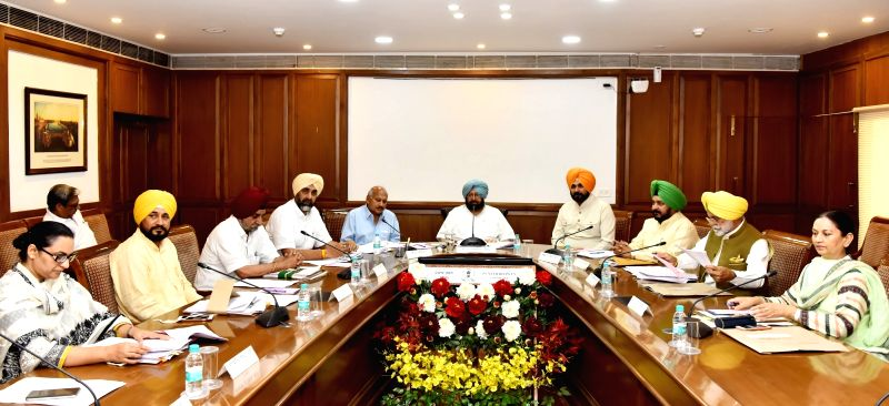 Punjab Chief Minister Captain Amarinder Singh presides over a Cabinet meeting at Punjab Bhawan in Chandigarh on June 7, 2017. - Captain Amarinder Singh