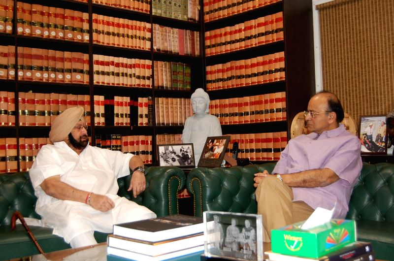 Punjab CM calls on Jaitley - Captain Amarinder Singh and Arun Jaitley