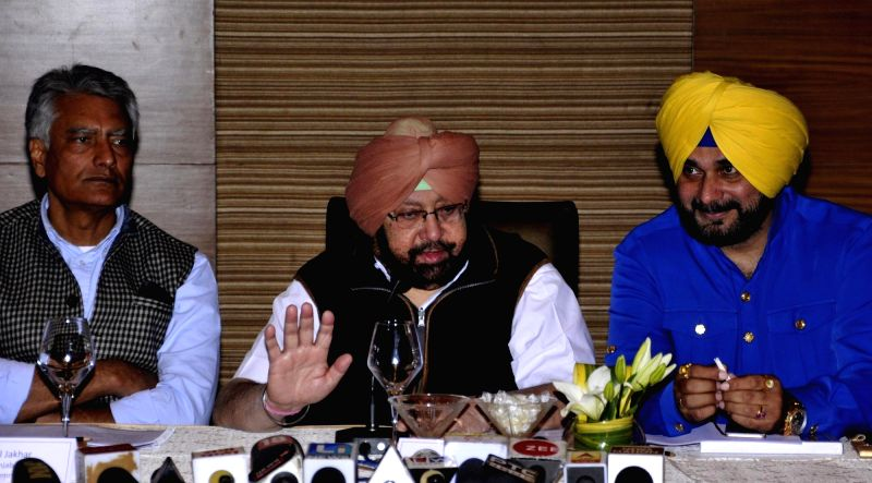 Congress press conference - Captain Amarinder Singh and Navjot Singh Sidhu