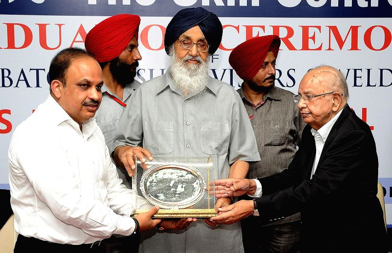 Punjab Chief Minister Parkash Singh Badal during a programme organised at Hunar Skill Center in Ludhiana on Aug 22, 2014. - Parkash Singh Badal