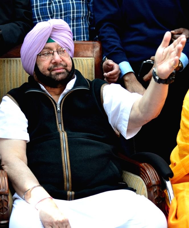 Punjab Congress chief Captain Amarinder Singh addresses a press conference regarding party's performance in the Punjab assembly elections in Chandigarh on March 11, 2017.