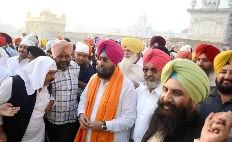 Punjab Congress chief Partap Singh Bajwa visits the Golden Temple in Amritsar, on Oct 30, 2015.
