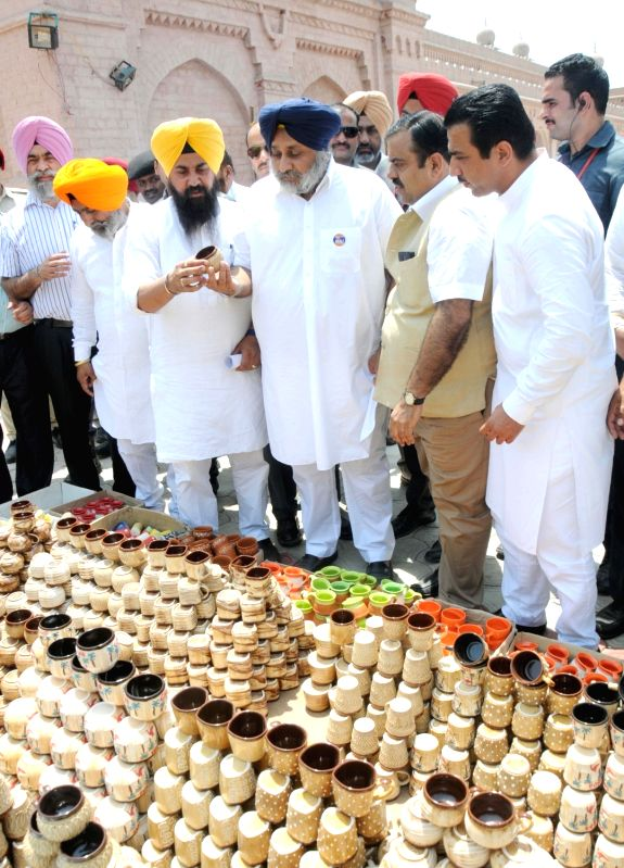 Punjab Deputy Chief Minister Sukhbir Singh Badal during the inauguration of the Amritsar Heritage Mela at Urban Haat in Amritsar on May 13, 2016. - Sukhbir Singh Badal