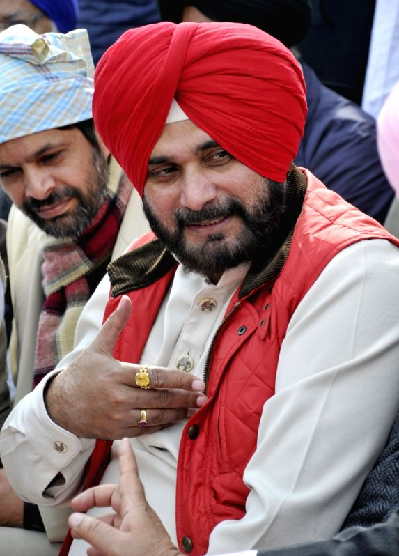 Punjab's Local Bodies Minister Navjot Singh Sidhu during a Gatka competition in Amritsar on Jan 31, 2018. - Navjot Singh Sidhu