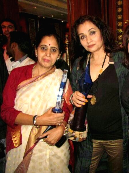 Pusha Milind Bhole and Salma Agha during the 4th Bharat Ratna Dr.Baba Saheb Ambedkar Awards 2014 in Mumbai on June 25th, 2014.