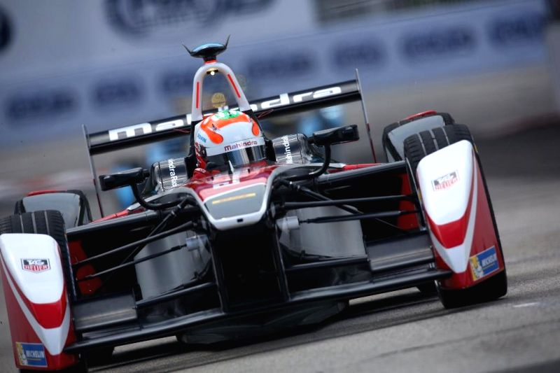 Indian driver Karun Chandhok at the FIA Formula E Championship in Putrajaya, Malaysia on Nov 22, 2014. Karun Chandhok finishes in 6th position and moves up to 3rd in championship.