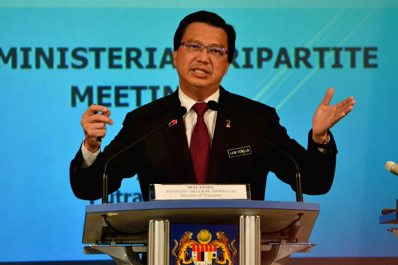 PUTRAJAYA, July 22, 2016 - Malaysia's Transport Minister Liow Tiong Lai speaks during a press conference in Putrajaya, Malaysia, July 22, 2016. Government of Malaysia, Australia and China announced ... - Liow Tiong Lai