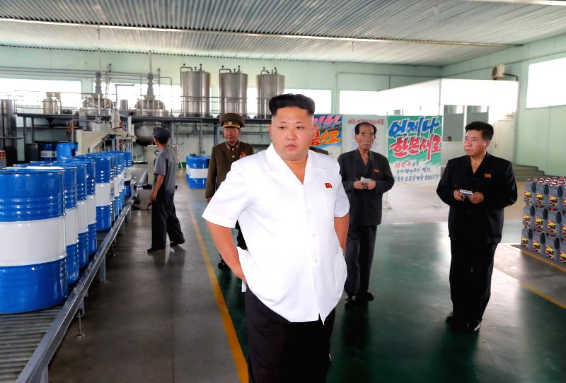 This undated photo released by Democratic People's Republic of Korea (DPRK) 's official Korean Central News Agency (KCNA) on Aug. 6, 2014 shows DPRK top leader Kim