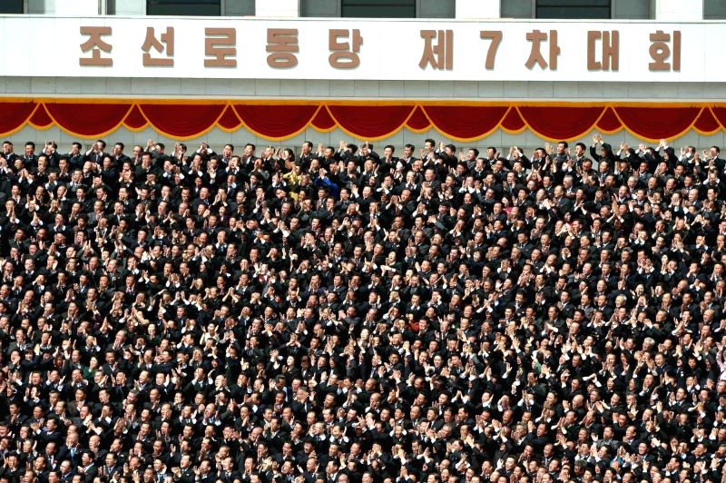 PYONGYANG, May 14, 2016 - Photo provided by Korean Central News Agency (KCNA) on May 13, 2016 shows participants in the seventh congress of the Workers' Party of Korea (WPK). Top leader of the ...