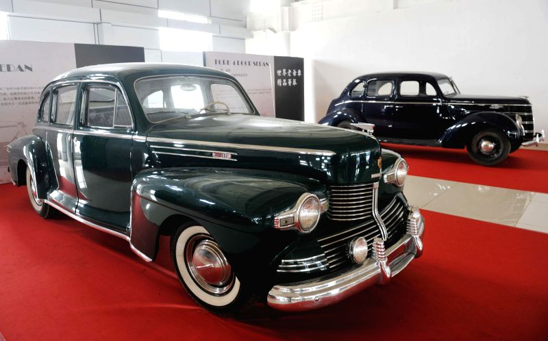 A Lincoln classic car is displayed during a vintage car show in Qinzhou International Automobile City in Qinzhou, south China's Guangxi Zhuang Autonomous Region, ..