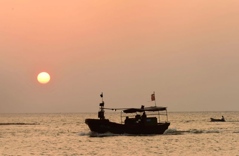 QIONGHAI, May 1, 2017 - Fishing boats go back to Tanmen Port for fishing moratorium in Qionghai City, south China's Hainan Province, May 1, 2017. The annual summer fishing ban started on May 1.