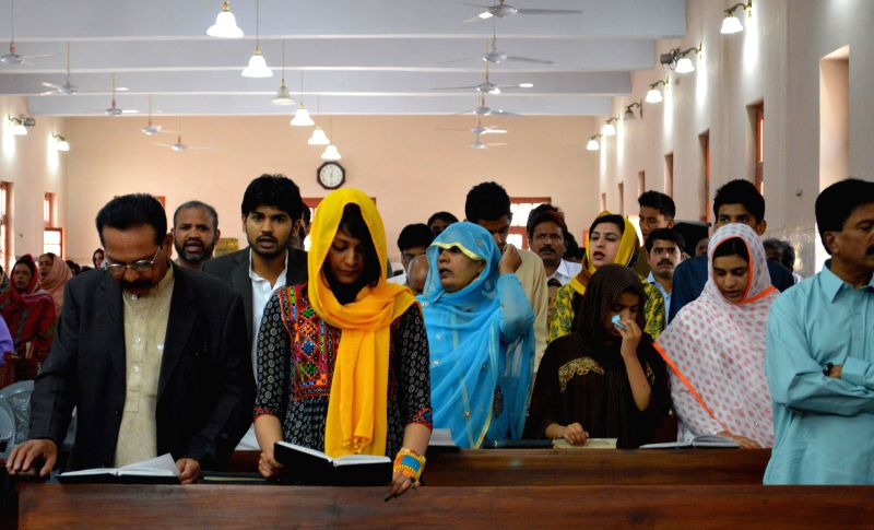 Pakistani Christians attend a Good Friday service at a church in southwest Pakistan's Quetta, April 18, 2014. Christian believers around the world mark the Holy ...