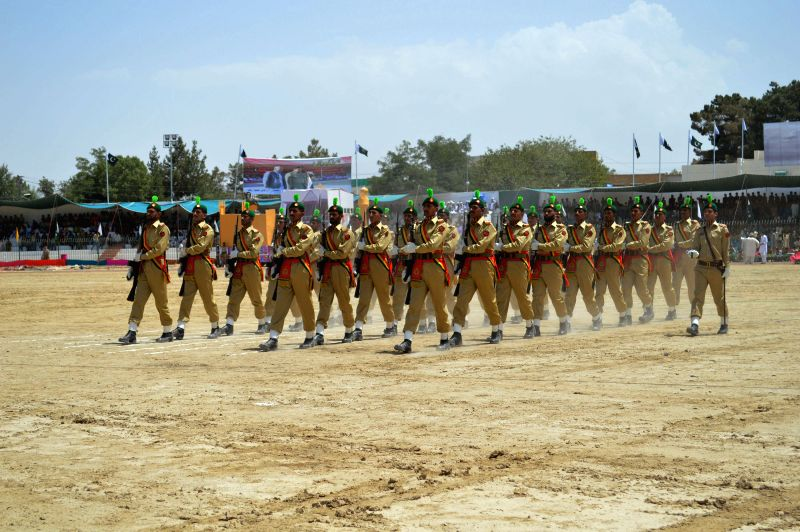 Pakistani cadets perform during a ceremony on the eve of Pakistan's 68th Independence Day in southwest Pakistan's Quetta on Aug. 13, 2014.