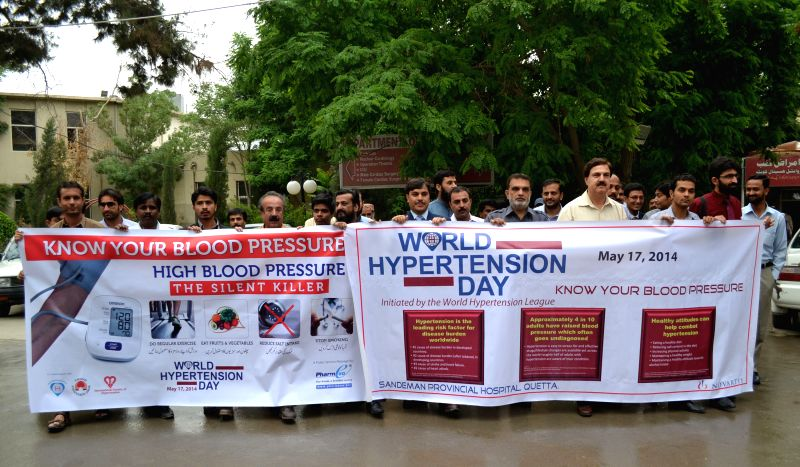 Pakistani doctors participate in a rally to mark the World Hypertension Day in southwest Pakistan's Quetta, May 17, 2014. According to Global Burden of Disease Study,