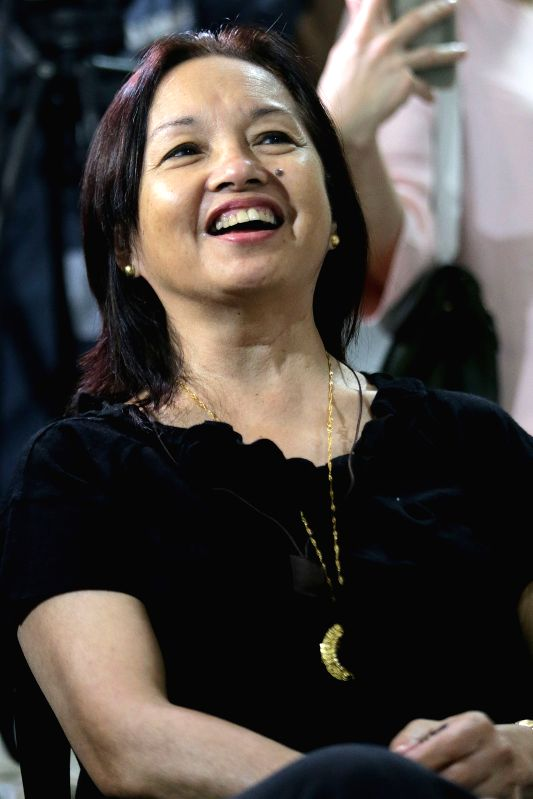 QUEZON CITY, Aug. 10, 2016 - Former Philippine President Gloria Macapagal-Arroyo smiles inside the Veterans Memorial Medical Center (VMMC) in Quezon City, the Philippines, Aug. 10, 2016. Gloria ...