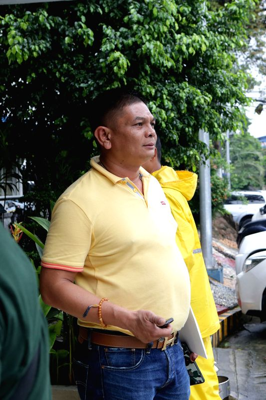 QUEZON CITY, Aug. 8, 2016 - Talitay Vice Mayor Abdulwahab Sabal arrives at the Criminal Investigation and Detection Group (CIDG) to present himself at the Philippine National Police (PNP) ...