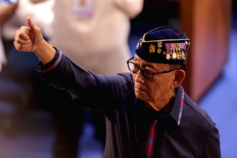 QUEZON CITY, July 25, 2016 - Former Philippine President Fidel Ramos attends the State of the Nation Address at the Batasang Pambansa in Quezon City, the Philippines, July 25, 2016. Former Philippine ...