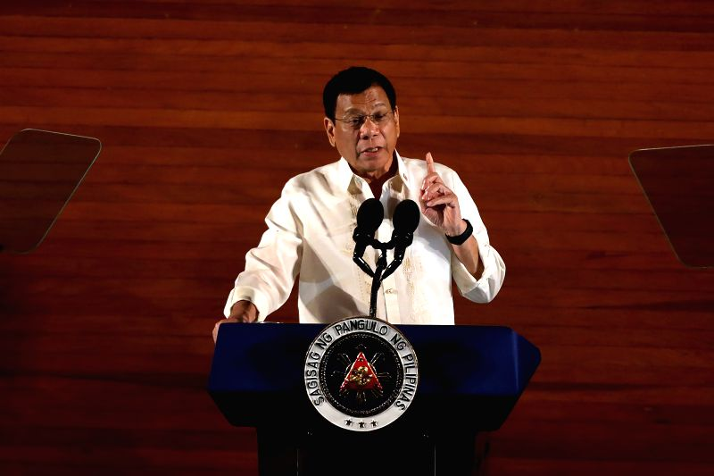 QUEZON CITY, July 25, 2016 - Philippine President Rodrigo Duterte delivers his speech during the State of the Nation Address in Quezon City, the Philippines, July 25, 2016. Philippine President ...
