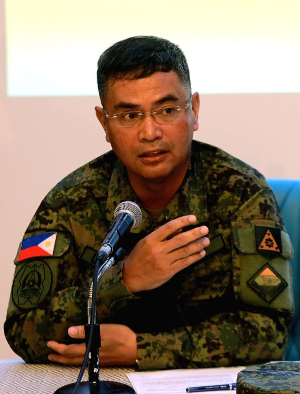 QUEZON CITY, May 8, 2017 - Armed Forces of the Philippines (AFP) Lieutenant General Oscar Lactao speaks to the media during the opening ceremony of the Balikatan Exercises between the Philippines and ...